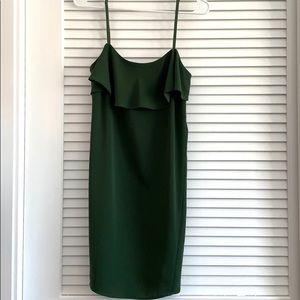 ☆ Zara Green Dress, Top Ruffle